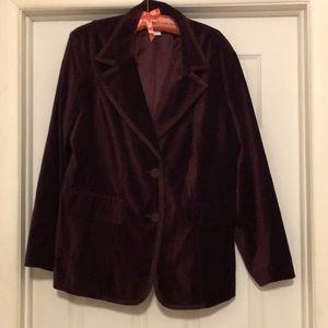 NEW!! Velvet blazer